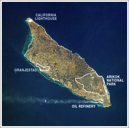A tiny island only 18 miles north of Venezuela