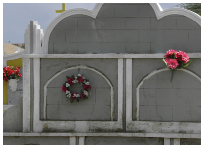 ORANJESTAD–Graveyard at the church, simple and dignified