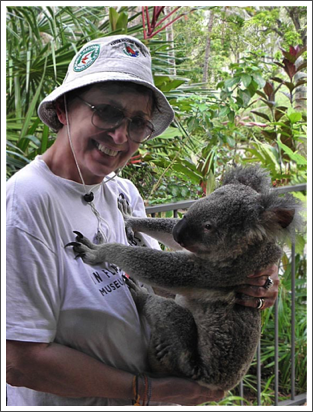 The koala is doing pushups on my chest, Hamilton Island, Australia–Jan. 2012