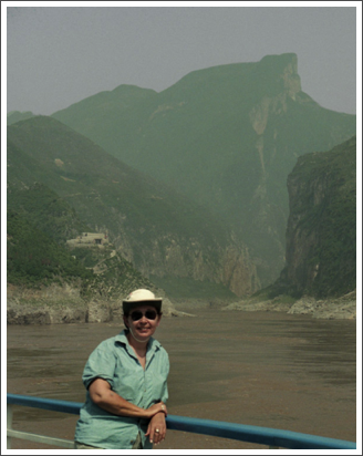 At the entrance to one of the Three Gorges on the Yangtze River–May 1998