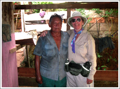 With a new friend in Boca da Valeria, along the Amazon River in Brazil, Dec. 2006