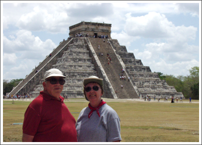 With Ernest at Chichen Itza, Mexico–March, 2001