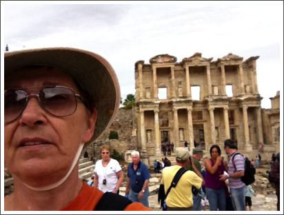 The great Library of Ephesus behind me–Oct. 2011