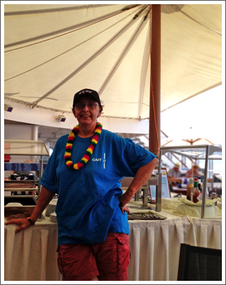 Partying on a boat on the equator–Jan. 2013