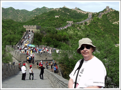 On the Great Wall of China– May, 2005