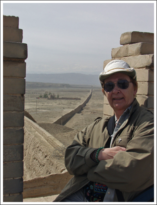 On the battlements of the Jiayuguan Fort, China–May, 2005