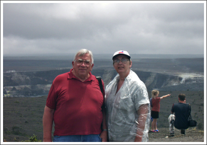 On top of Kilahua Volcano, Hawaii, with Ernest–April, 2002