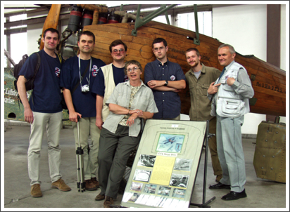 At the Krakow Air Museum with my Polish and Slovakian biplane modeling buddies–Nov. 2004