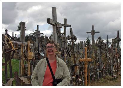 At the Hill of Crosses, Lithuania–Aug. 2003