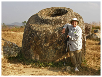 The jars are bigger then me; Plain of Jars, Laos–Dec. 2008