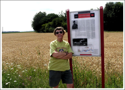 At the field where the Red Baron came down, France–July, 2010