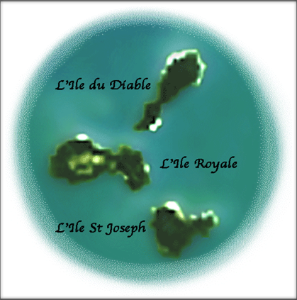 The three Iles du Salut. Only Ile Royale can be visited.