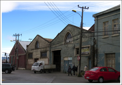 PUNTA ARENAS–the old warehouses from whaling days are still at the docks