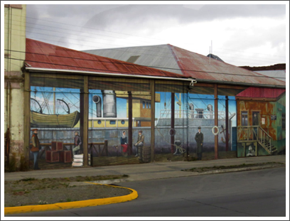 PUNTA ARENAS–street art is used to liven up the dull streets