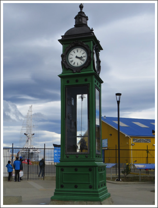 PUNTA ARENAS–lovely old clock tower at the port