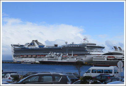 USHUAIA–the harbor can handle some pretty large cruise ships in addition to expedition ships