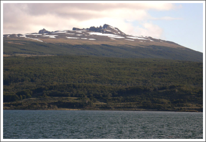 BEAGLE CHANNEL–this connects Ushuaia to the ocean and was named after Chas. Darwin's ship