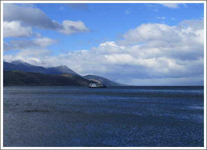 BEAGLE CHANNEL–finally, the channel opens to the Drake Passage and the Southern Ocean