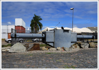 MONTEVIDEO–the gunnery range-finding telemeter of the Nazi ship Graf Spee, which was scuttled here in Dec., 1939