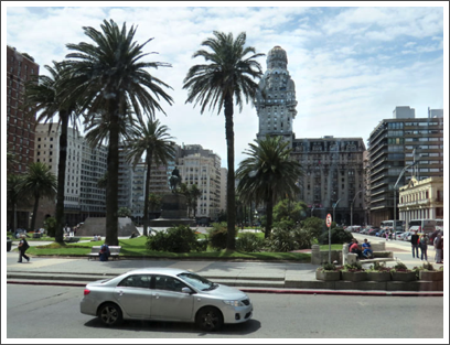 MONTEVIDEO–Palacio Salvo, finished 1928, on Plaza Independencia on the edge the Old City