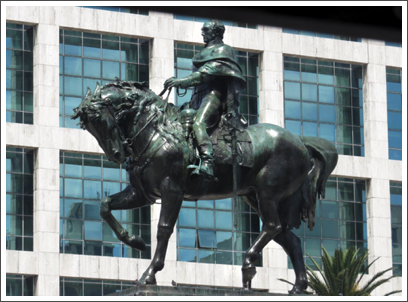 MONTEVIDEO–mounted statue of the national hero of Independence, Gral. José Gervasio Artigas, was erected here on 1923