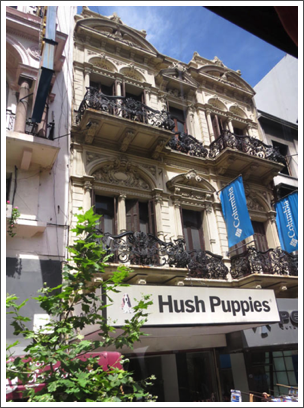 MONTEVIDEO–the Spanish influence of wrought iron balconies is very much in evidence