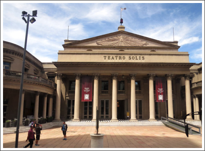 MONTEVIDEO–near the Plaza is Teatro Solis, built 1842-1856
