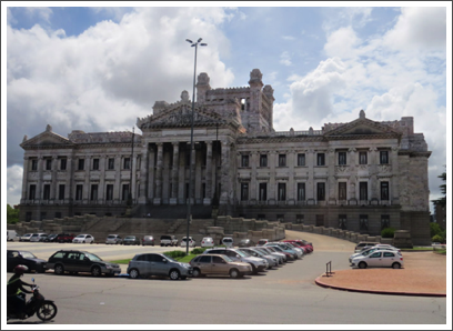 MONTEVIDEO–the Parliament building, the Palacio Legislativo, was inaugurated on the 100th anniversary of independence in 1925
