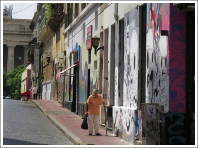 BUENOS AIRES–San Telmo is a center for artists, lofts, galleries, and the artistically inclined