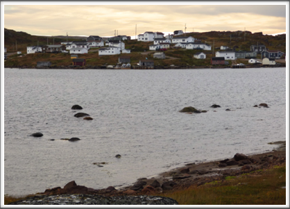 RED BAY, LABRADOR, CANADA—a small (pop. 300) fishing village in a sheltered bay surrounded by red granite cliffs