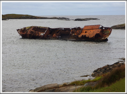 RED BAY—the location of the sunken vessel San Juan (1565) is near the wreck of the Bernier, which grounded in 1966
