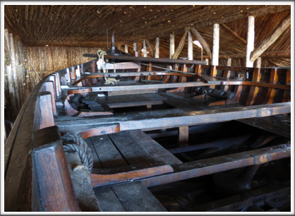 L'ANSE AUX MEADOWS—this ship, the Snorri, sailed 1000 miles from Greenland to this site in 1998