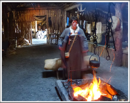 L'ANSE AUX MEADOWS—cooking on the open hearth