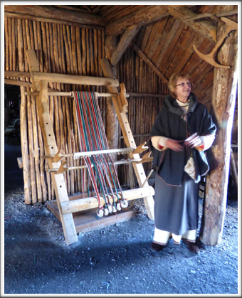 L'ANSE AUX MEADOWS—demonstrating weaving