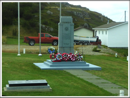TWILLINGATE—monument honoring local veterans of the two World Wars